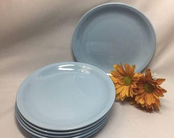 Bread Plates Homer Laughlin Skytone - set of 6