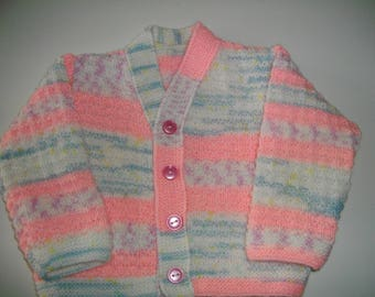 Kids vest hand knitted wool