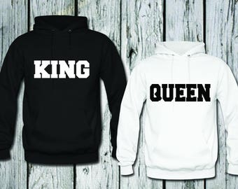 king queen hoodie etsy. Black Bedroom Furniture Sets. Home Design Ideas