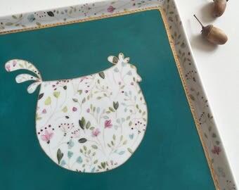 Le Cottage Tranquille - Fiche créative peinture sur porcelaine