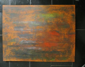 Orange, modern, unique, acrylic