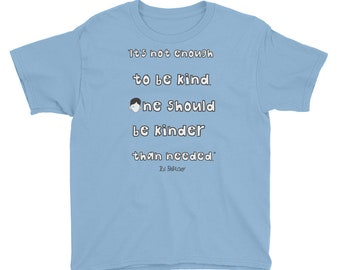 Kids Wonder Book quote T-Shirt kinder kindness choose kind wonder movie rj palacio anti bullying reading teacher gift were all wonders