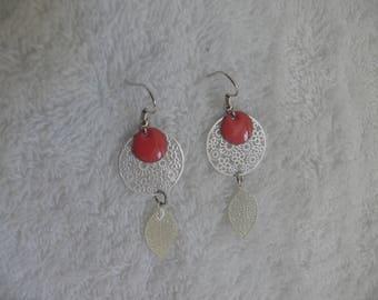 earring silver print
