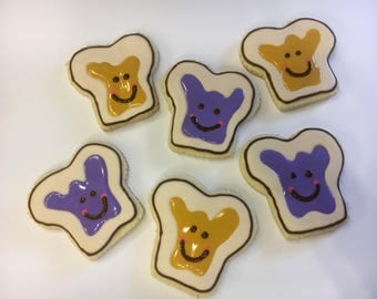 Peanut Butter & Jelly Decorated Cookies