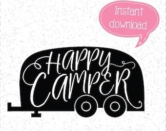 Happy Camper SVG SVGs Cricut Cut File