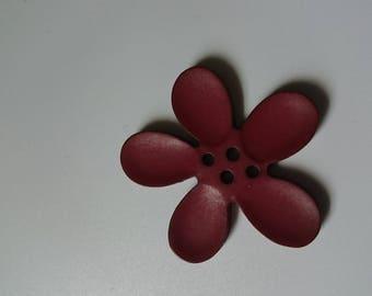 Button 40 mm dark brown orchid flower