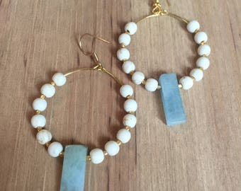 Ice blue crystal drop earrings