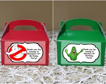 Sale! 12 Ghostbusters Treat Boxes, Ghostbusters Gable Boxes, Ghostbusters Candy Boxes, Ghostbusters Party Boxes