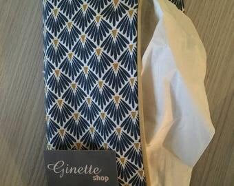 teal handkerchief case