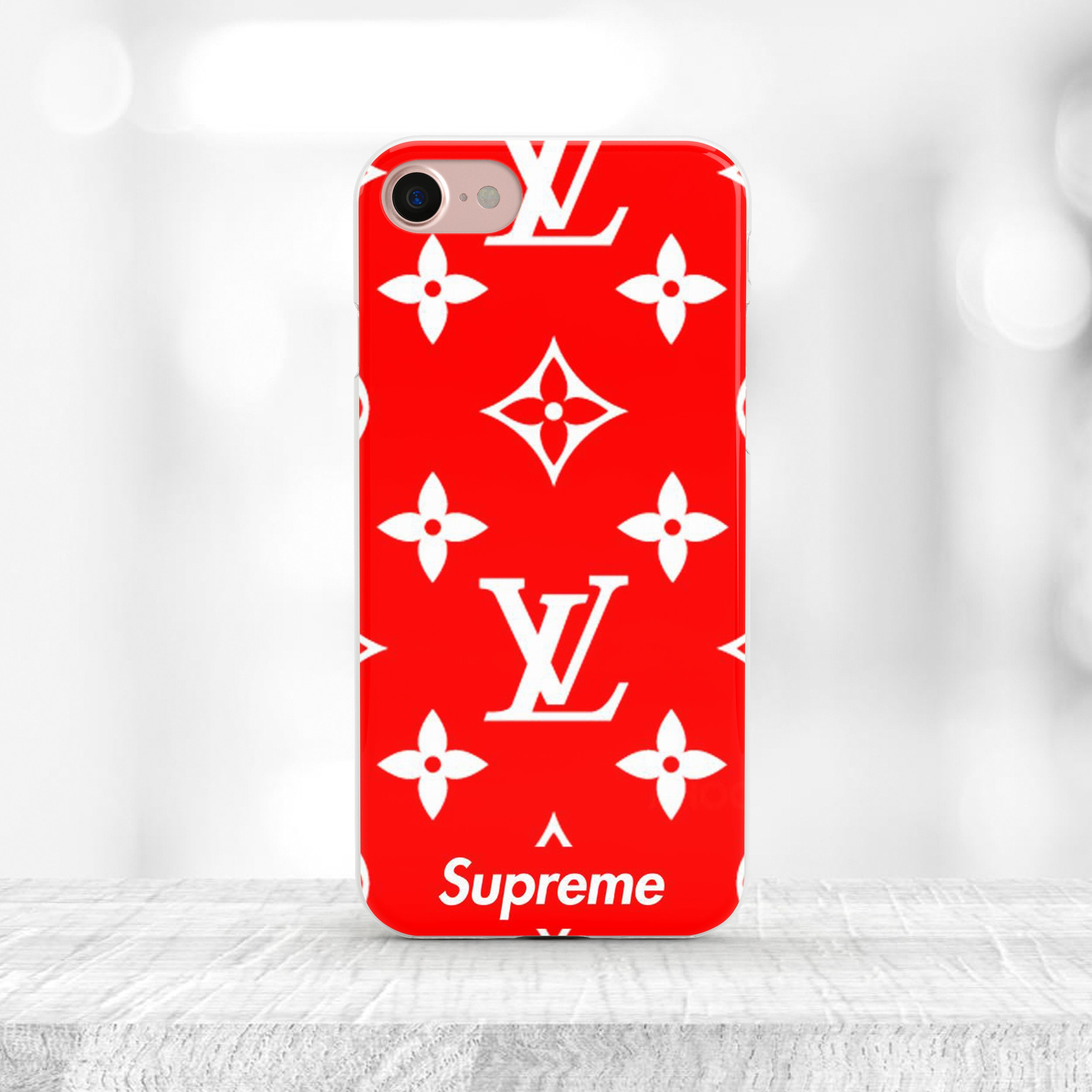 supreme iphone case red supreme louis vuitton iphone 7 plus. Black Bedroom Furniture Sets. Home Design Ideas