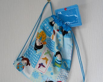 Backpack child patterned girls world