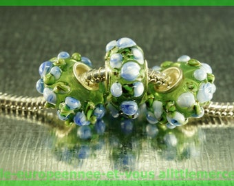 for bracelet necklace charms HQ796 European glass bead