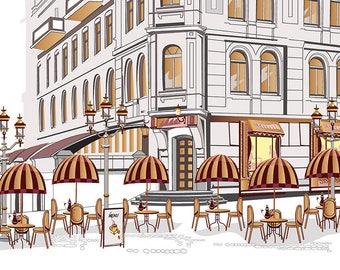 PLACEMAT semi-rigid ORIGINAL AESTHETIC WASHABLE and durable - Paris Café 9.