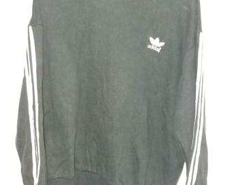 Vintage 90's Adidas sweatshirt small logo Black Colour