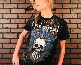 Lamb of God-Distressed Vintage Band Tee-Small -Vintage Concert Shirt-Rock Style-Punk Style-Band Shirt-Concert Shirt-Grunge-Metal Core