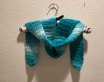 Teal Handmade Crocheted Scarf