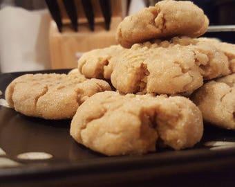 Soft Peanut Butter cookies (Baker's Dozen)