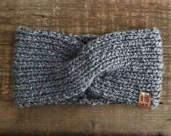 TWISTED KNIT HEADBAND // Non-Wool Turban Ear Warmer // 12 Colors Available