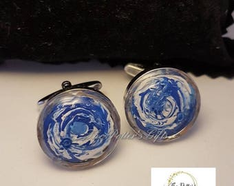 Handmade Resin Topped Cuff Links