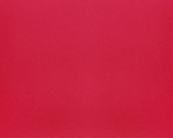 Fine leatherette - Fuchsia color leaf