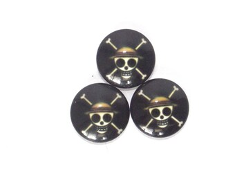 Set of 3 cabochon 18 mm one piece