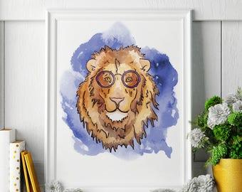 Lion - Lion Painting - Lion Art - Lion Painting - Lion Print - Lion Fine Art Print
