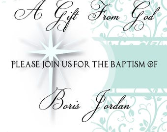 Baptism (Or Christening) Invitations