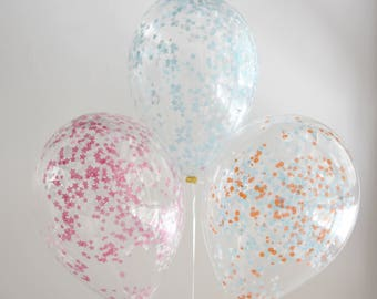 Air balloon set with confetti