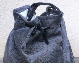 Faux leather purse bag
