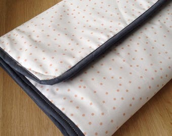 Changing pad Nomad / Terry cotton and fabric travel changing mat