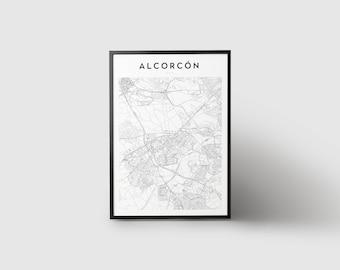 Alcorcón Map Print