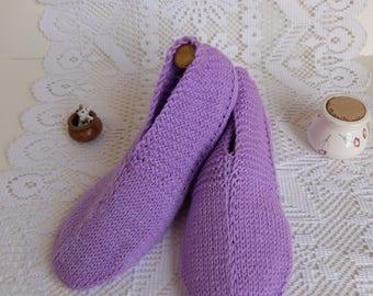 Night slippers Miss Aliette the purple