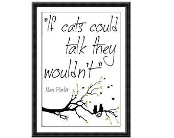 Digital Copy of If cats could talk they wouldn't Poster Print