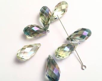 SWAROVSKI Crystal 20 x 10 mm Pearl drops PENDANTS transparent multi HUES light AB (M89)