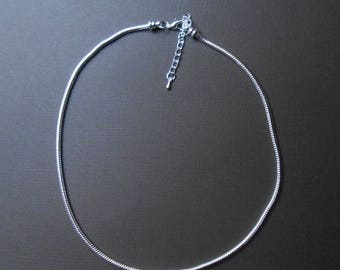 Necklace 45 cm silver snake chain