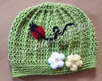 Ladybug and Flower hat