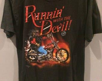 "1990 Rebel Riders ""runnin with the devil!"" Tshirt"