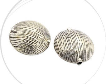 A large round bead alloy, diameter 29, 15 mm, hole 3.5 mm thick