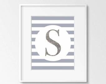 Letter S Printable Art, 8x10, 4:5 Ratio, Modern Wall Art, Instant Download, Digital Print Printable Art
