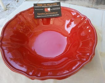 Glazed terra-cotta red Bowl