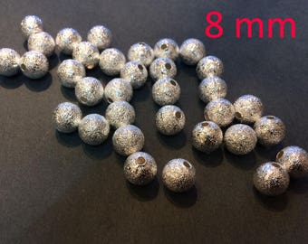 20 brilliant stardust beads 8mm for jewelry making