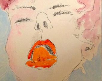 erotische zeichnung  PRINT