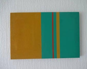 Abstract Wall art Linear style 'Summer' Acrylic on Canvas