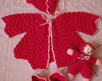 baby/birth gift idea: set fuschia 6 months