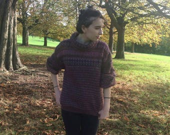 80's Kay Cosserat Purple Mohair and Wool Jumper/Sweater