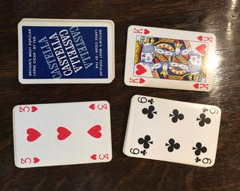 Used castella playing cards deck