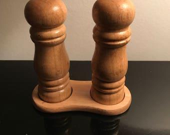 Wooden salt & pepper shaker set