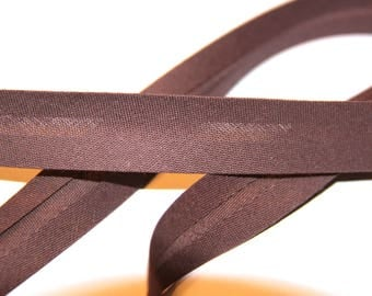 18MM BROWN POLYCOTTON BIAS
