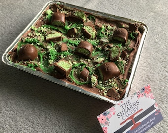 Mint Chocolate Brownie Traybake. The perfect gift.
