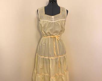 1970s yellow  sun dress